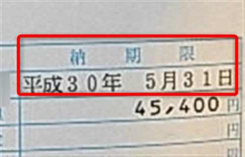 自動車税納税通知書(軽自動車税納税通知書)納期限