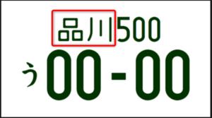 ナンバープレート使用の本拠