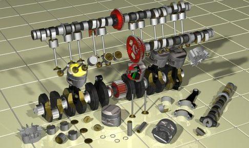 エンジン・ピストン・上死点・下死点・圧縮・排気・構造・システム・仕組み