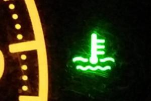 水温警告灯・青・緑