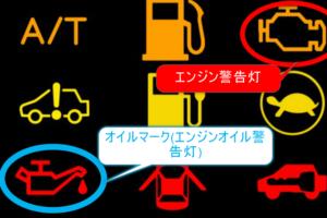 車・オイルマーク・ランプみたいなマーク・点灯・点滅・意味